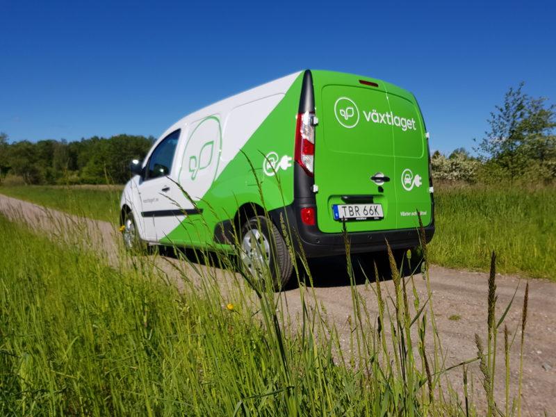 Växtlaget kör elbil